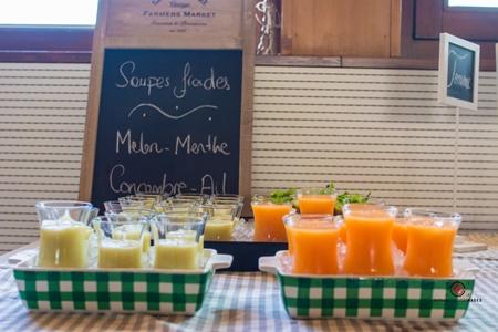 Soupe froide melon – menthe